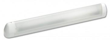 Applique salle de bain fluo HUDSON Eco énergie18W Blanc
