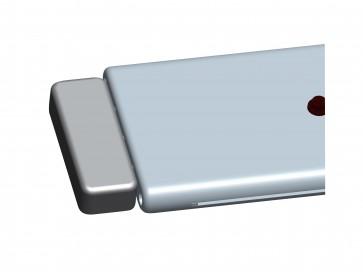 Réglette spot led ULTRAFLAT  2 X 1,5 W ALU + Sensor zoom