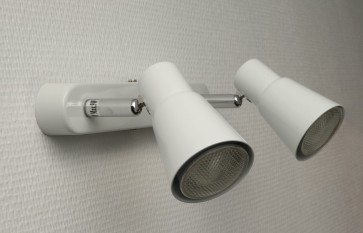 Patère 2 Spots SINES Blanc GU10 2 x 9w eco energie