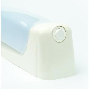 Applique murale LENN tube lino Led 6w IP24 blanc + inter