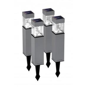 Pack de 4 bornes solaire extérieure 5 lumens Duracell