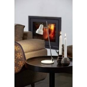 CONIC - Lampe à poser métal blanc ambiance
