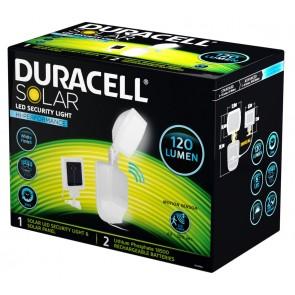 Projecteur sécurité extérieur Solaire detecteur de mouvement 120 lumens blanc Duracell SL001BDU