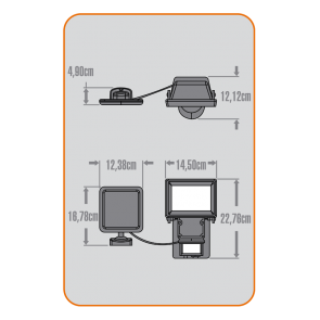 Projecteur sécurité extérieur Solaire detecteur de mouvement 400 lumens