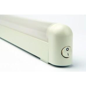 reglette plate fluo WALL plafond blanc zoom