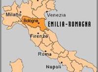 Carte region emilia romagna Italie